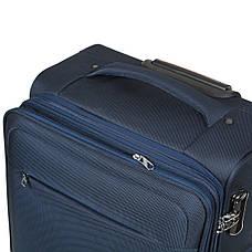 Чемодан BagHouse большой синий с расширением   45х78х31(+3)  ксГЦ868синв, фото 3