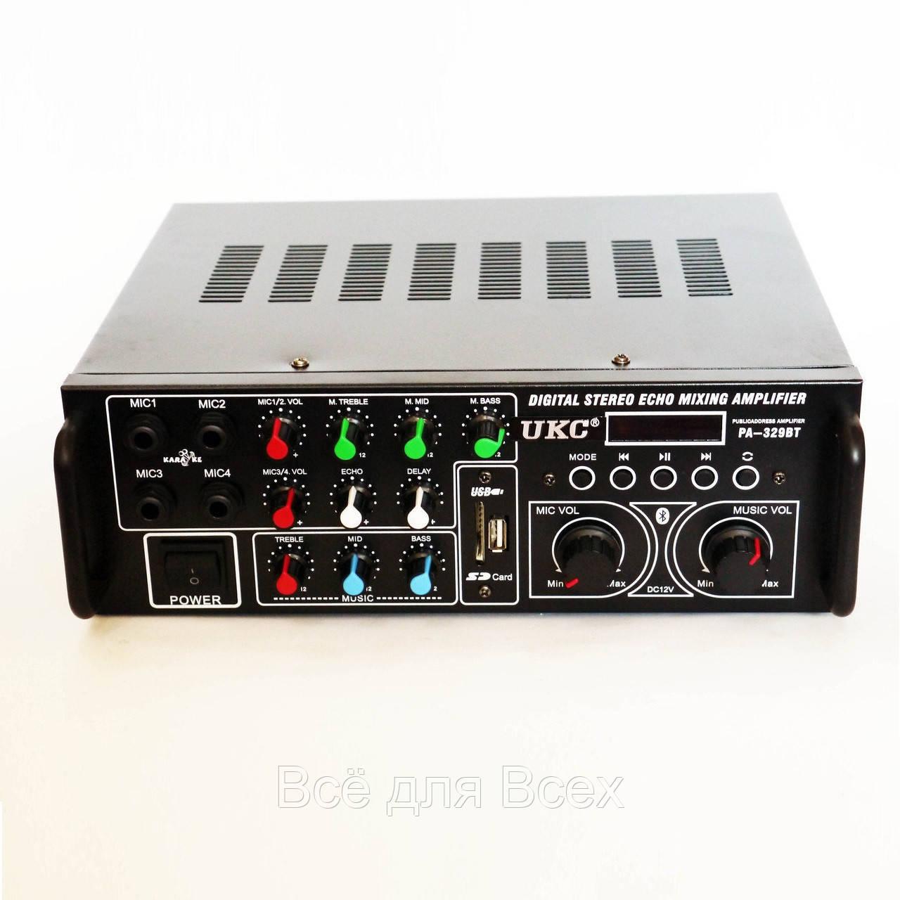 Купить Усилители звука, Усилитель звука UKC AV-329BT Bluetooth Караоке 2х120W Black