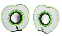 Колонки для ПК E-128X/028A 2.0 USB White/Green