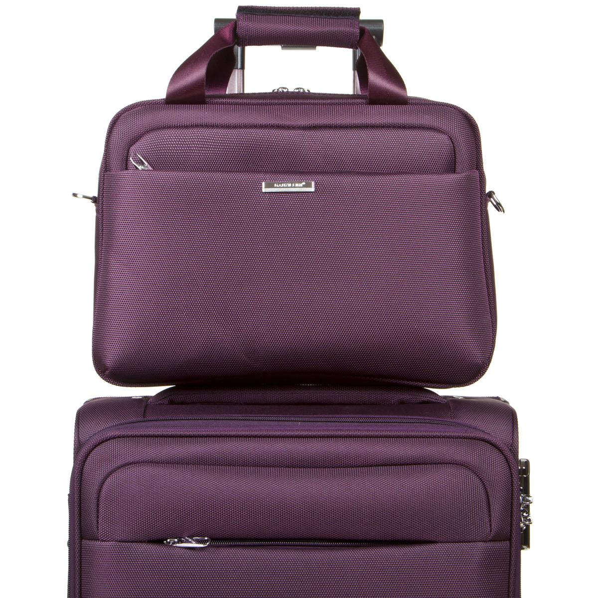 Універсальна дорожня сумка-бьютик BagHouse з кріпленням на ручку валізи 38х29х15 фіолетова ксГЦ868ф
