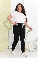 Женские спортивные штаны брюки чёрные больших размеров батал 50-52 54-56 58-60 62-64