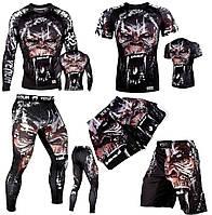 Компрессионный комплект Venum Gorilla горилла спортивный костюм рашгард леггинсы лосины футболка шорты UFC ММА