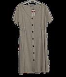 Платье женское на пуговицах размер 48. Цвет беж. Турция Big Dart, фото 6