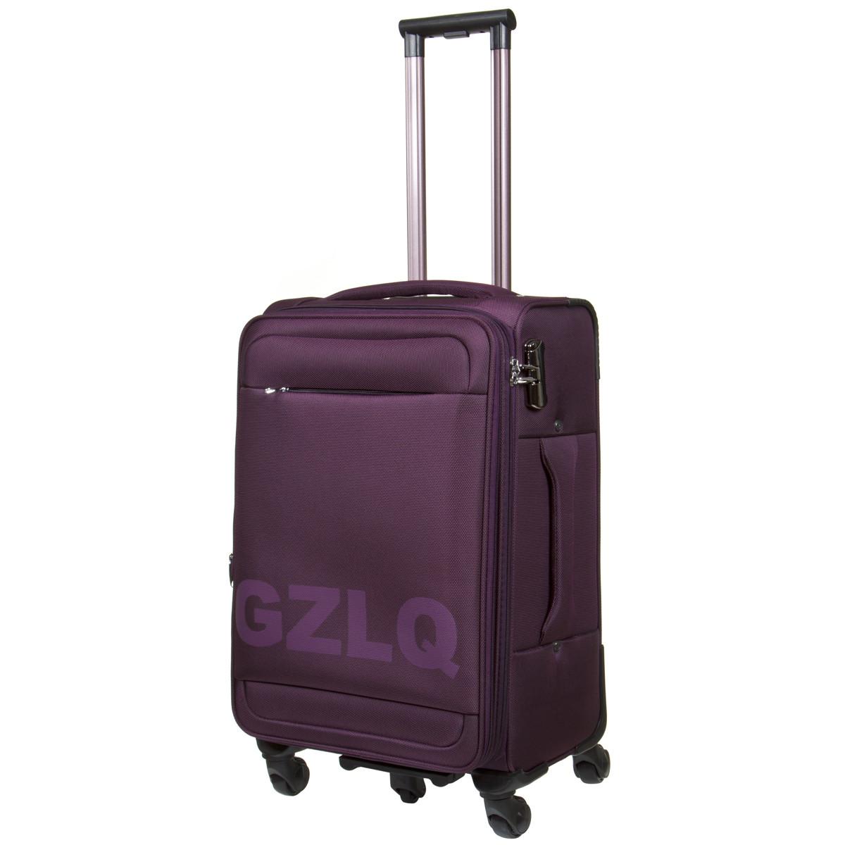 Чемодан BagHouse средний фиолетовый 41х67х27(+3) с расширением   ксГЦ868фср