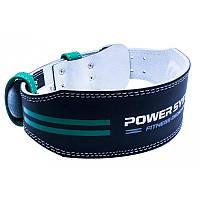 Пояс для тяжелой атлетики Power System Dedication PS-3260 Black/Green M черный с зеленым, фото 1