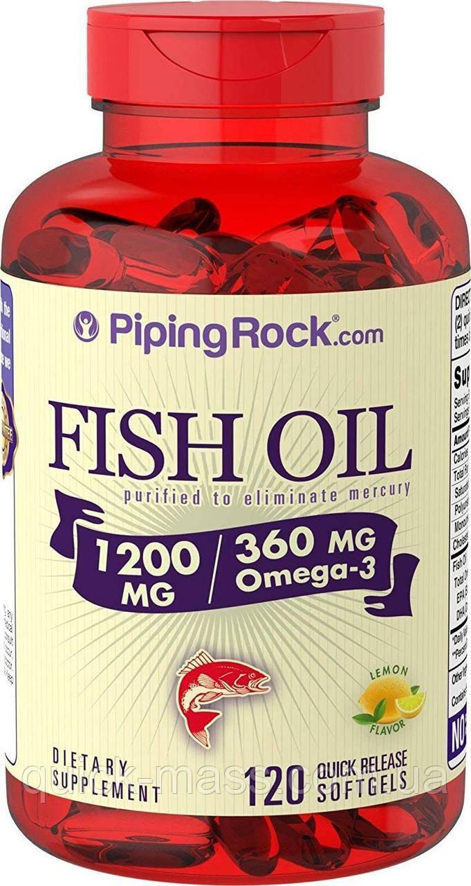 Омега-3 Piping Rock Omega 3 Fish Oil 1200 mg 120 softgel