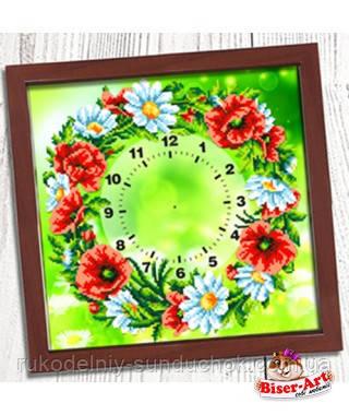 """Часы для вышивки бисером  Бисер-Арт """"Польовий вінок"""" (001)"""