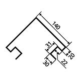 Металлосайдинг Блок-хауc | Орех | 0,4 мм | Китай |, фото 8
