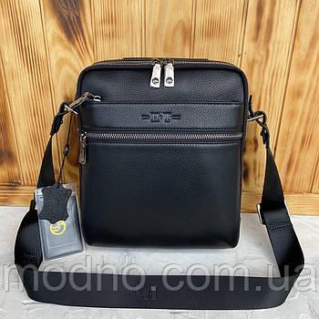 Мужская кожаная сумка с ручкой через плечо H.T. Leather