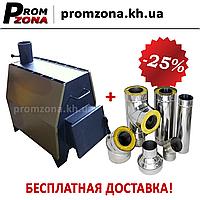 Печь отопительная Огонек ПДГБ 15 кВт, фото 1