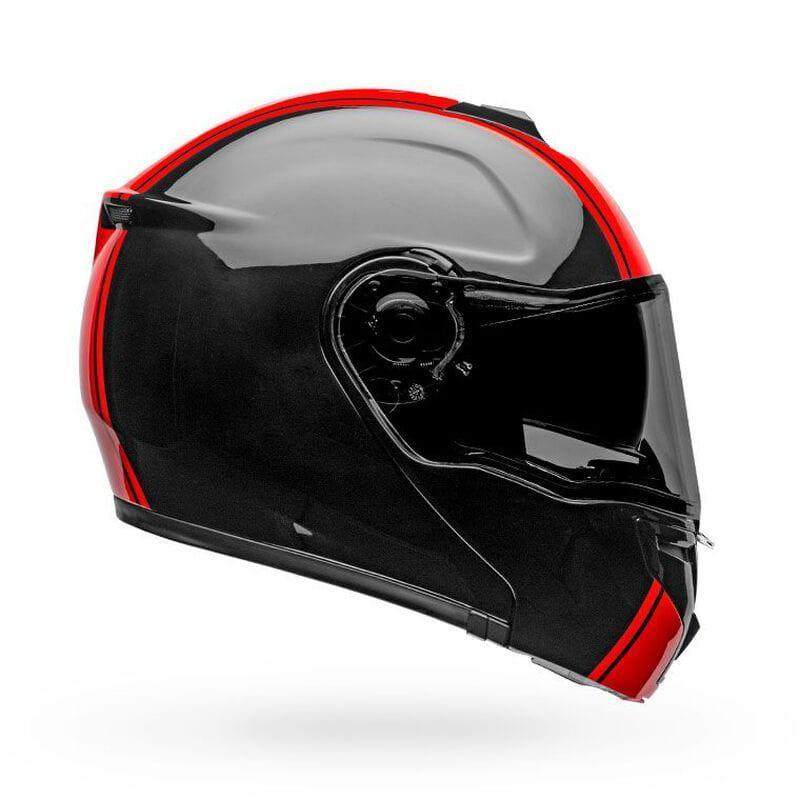 Мотошлем Bell SRT- Modular RIBBON Black/Red