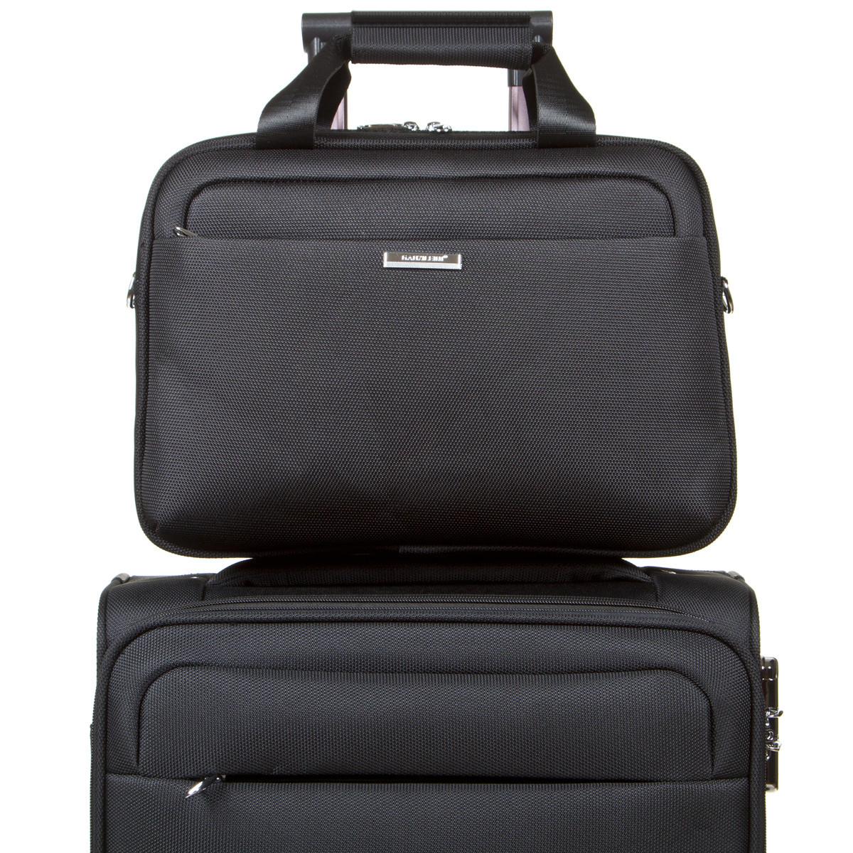 Дорожная универсальная сумка-бьютик GLQ с креплением на ручку чемодана 38х29х15 чёрный цвет   ксГЦ868ч