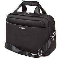 Дорожная универсальная сумка-бьютик GLQ с креплением на ручку чемодана 38х29х15 чёрный цвет   ксГЦ868ч, фото 2