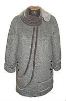 Пальто женское большого размера 104 малахит
