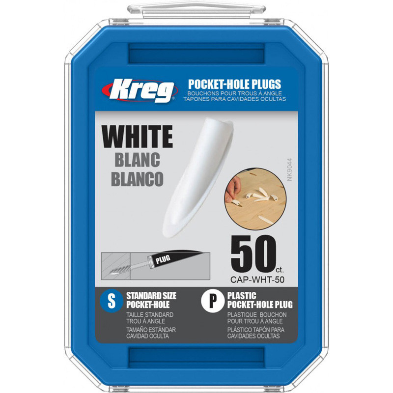 Заглушка мебельная пластиковая белая, 50шт