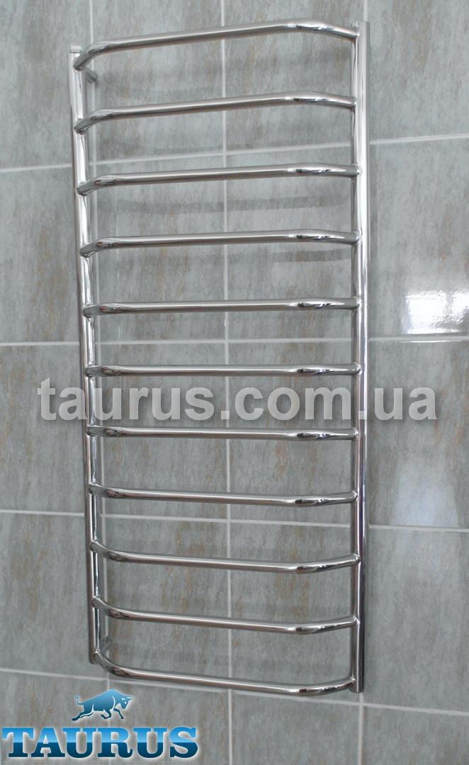 Длинный н/ж полотенцесушитель Standart 11/1150х450 для ванной комнаты. Трапециевидные перемычки d20