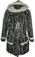 Пальто женское большого размера 108 Берёза чёрный