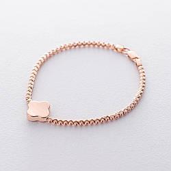 """Шариковый браслет """"Клевер"""" из красного золота гб04162"""