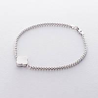 """Шариковый браслет """"Клевер"""" из белого золота гб04166"""