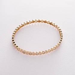 Жорсткий золотий браслет з фіанітами гб04189