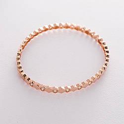 Жорсткий золотий браслет з фіанітами гб04190
