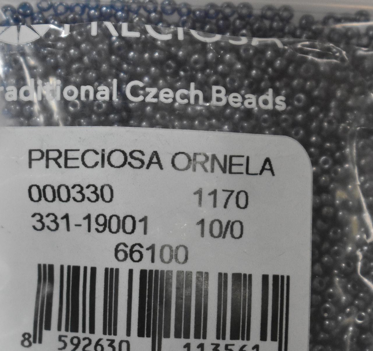 Бисер Preciosa 10/0 цвет 66100 темно-синий 10г
