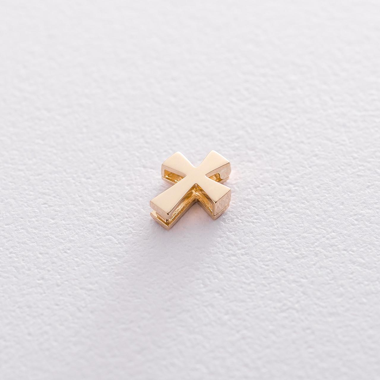 Відкривається хрестик Мінімал в жовтому золоті гп03298
