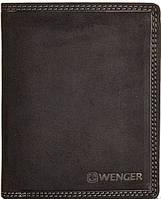 Мужское кожаное солидное портмоне Wenger W5-02BK черный