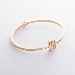 Золотий браслет (фіаніти) гб02314