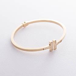 Золотой браслет (фианиты) гб02314