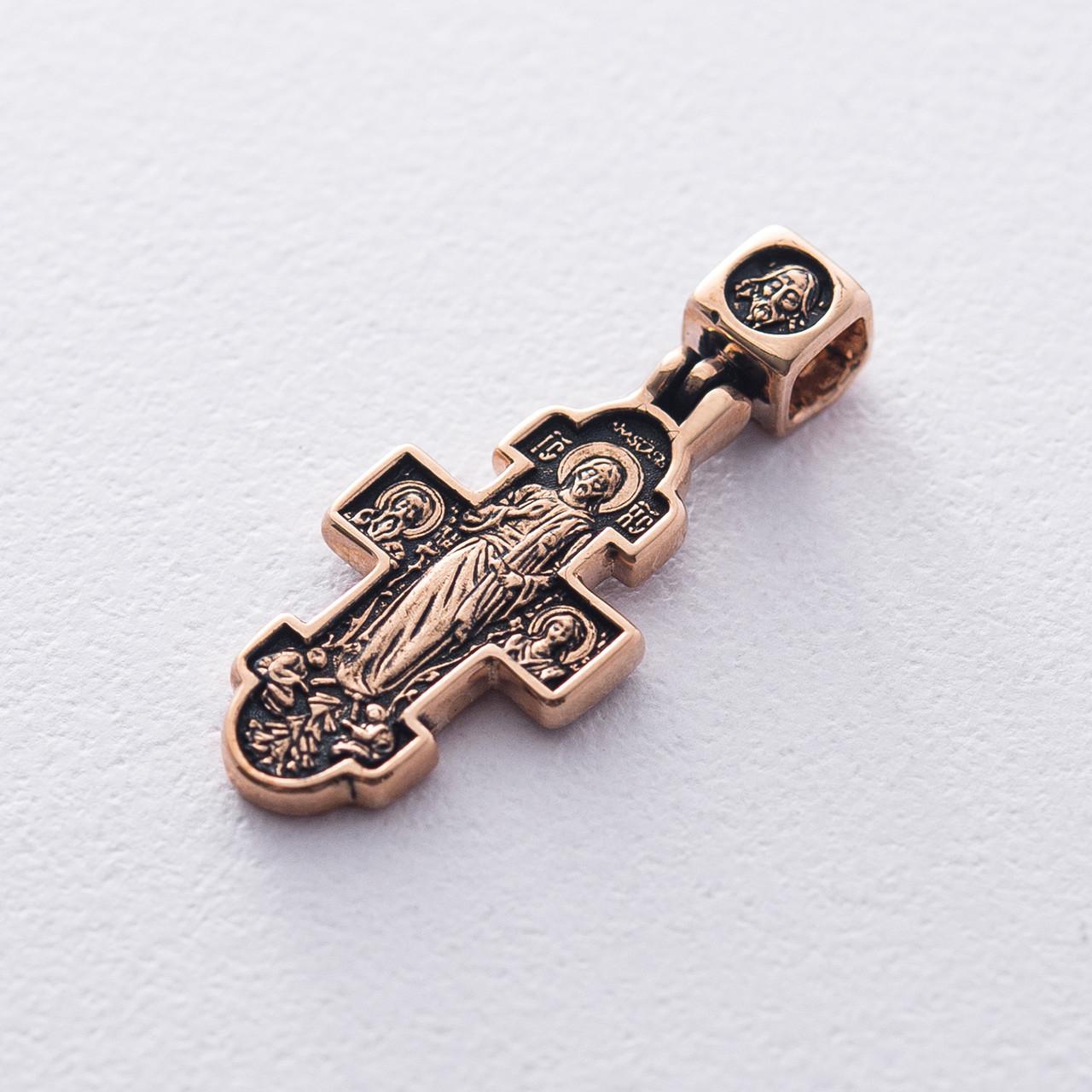"""Золотий хрестик """"Явище Христа жінок-мироносиць. Ікона Божої Матері """"Несподівана Радість"""" гп02656"""