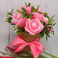 Набор сувенирного мыла ручной работы «Розовые розы»
