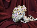 Свадебный букет-дублер молочный с нежно-розовым, фото 2