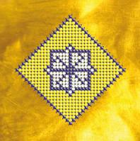 Схема на ткани для вышивки бисеромОбереговый символ.Молвинец КМР 6107