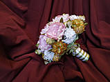 Свадебный букет-дублер из пионов розовый, фото 2