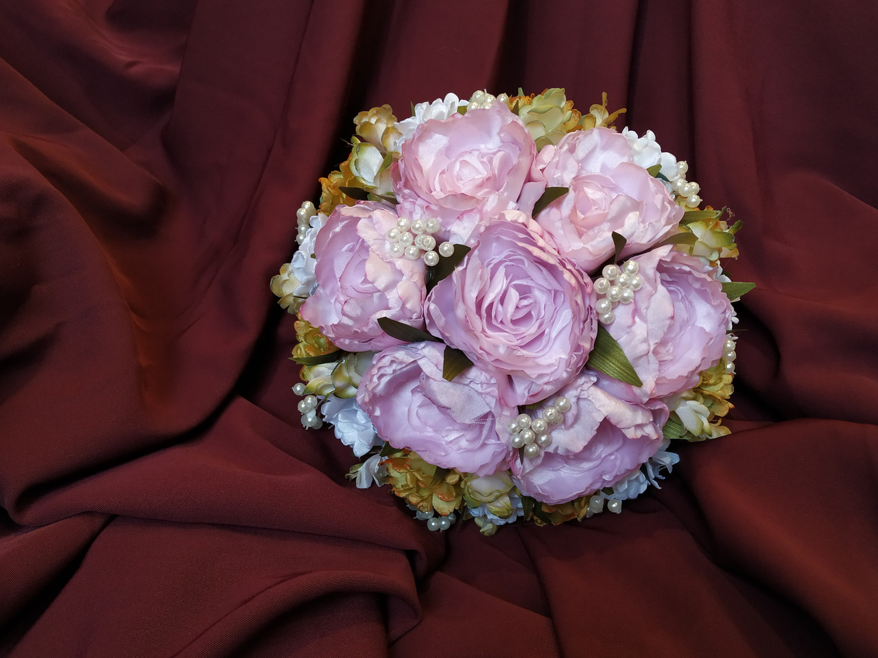 Свадебный букет-дублер из пионов розовый