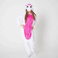 Кигуруми бело-розовый единорог (пижама взрослая) kmy0072, фото 1