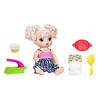 Baby Alive Интерактивная кукла пупс супер перекус РУССКИЙ ЯЗЫК Super Snacks Snackin' Noodles Baby Blonde