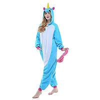 Кигуруми голубой единорог (пижама взрослая) kmy0017, фото 1