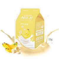 Питательная маска с молочными протеинами и экстрактом банана A'Pieu Banana Milk One-Pack