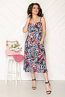 Платье на брительках легкое, модное, нарядный р,50,52,54,56, фото 1
