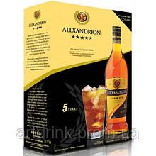 Бренди Alexandrion 5 летний 0,7л 37.5% + 2 стакана