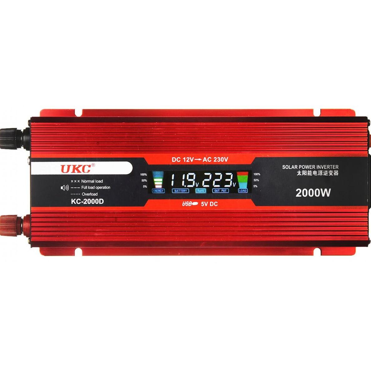 Преобразователь напряжения Ukc kc-2000D 2000W с Lcd дисплеем