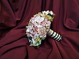 Весільний букет-дублер рожевий з пудровим і молочним, фото 2