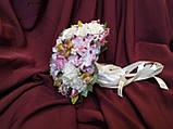 Свадебный букет-дублер для невесты розовый с молочным, фото 2