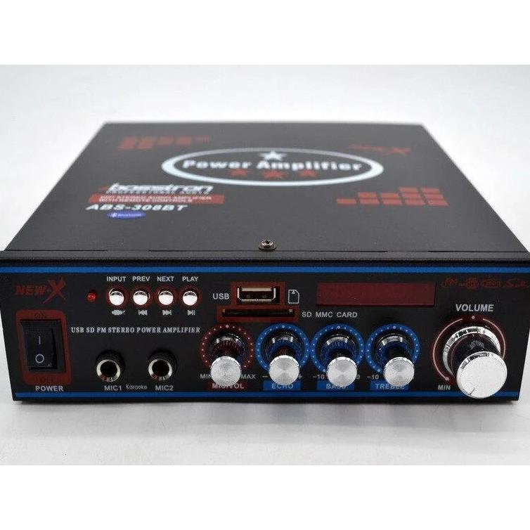 Підсилювач звуку Amp 308 BT Ukc