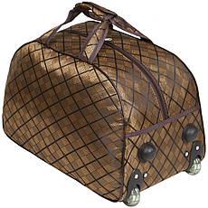Сумка на колёсах  BagHouse  малая  50х32х28, ткань полиэстер цвет коричневый   ксЛ009мсвкор, фото 3