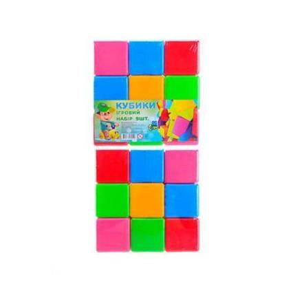 Кубики  разноцветные большие, 9 штук 14066