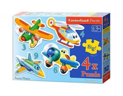 """Пазлы """"Веселые самолеты 4 в 1"""" В-005048"""