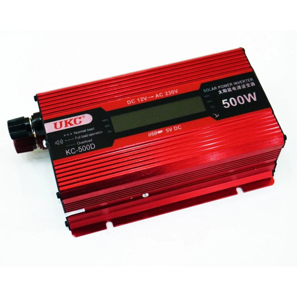 Преобразователь напряжения Ukc kc-500D 500W с Lcd дисплеем